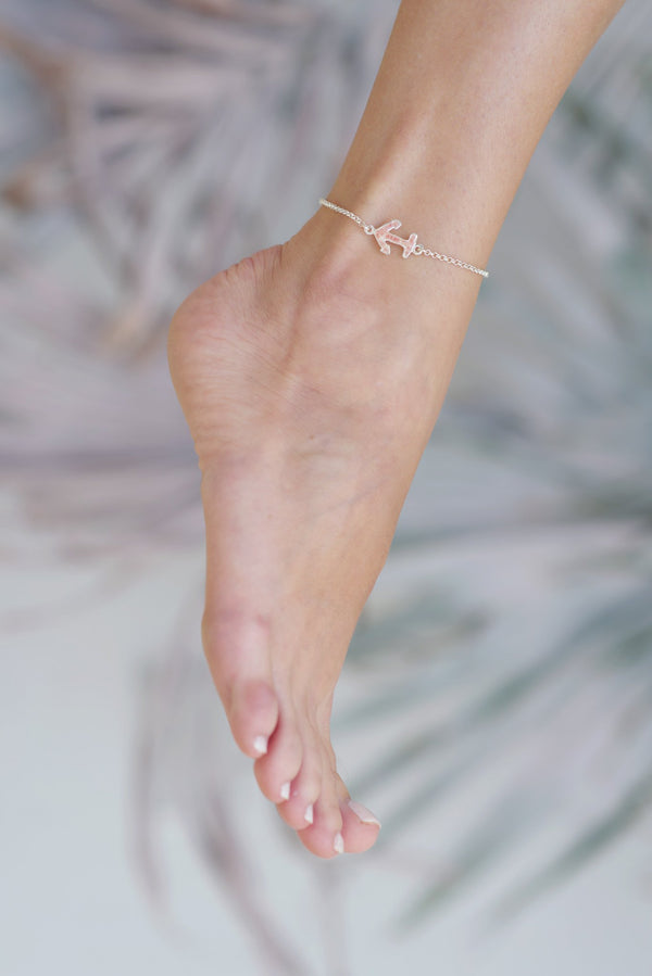 Nautical ~ Small Anchor Inline Anklet