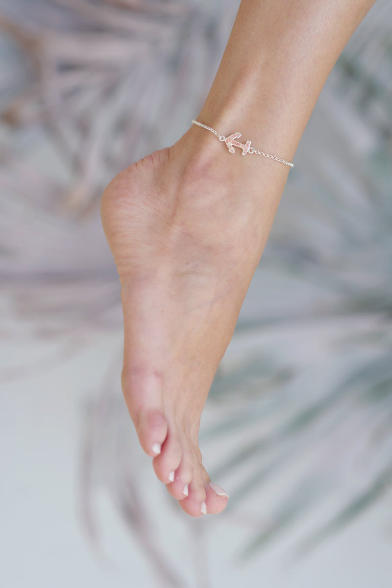 Nautical ~ Anchor (Small) Inline Anklet - Alexandra Mosher Studio Jewellery Bermuda Fine