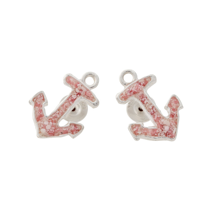 Splash Collection | Small Anchor Stud Earrings