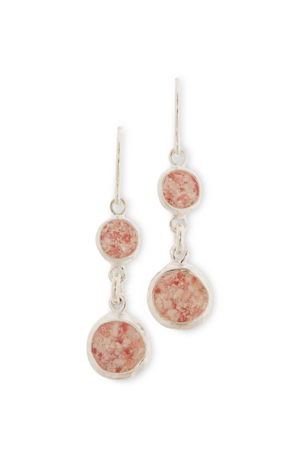 Splash ~ Medium Circle Double Drop Earrings