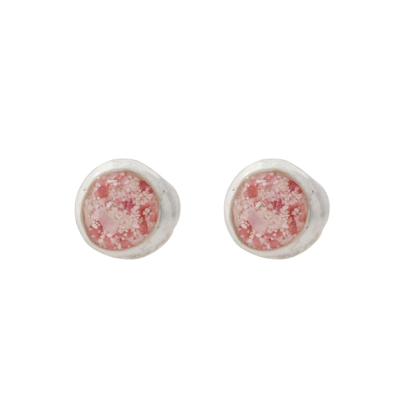 Splash ~ Circle (Medium) Stud Earrings - Alexandra Mosher Studio Jewellery Bermuda Fine