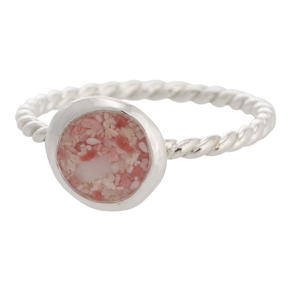 Splash ~ Small Circle Ring with Braided Band - Alexandra Mosher Studio Jewellery Bermuda Fine