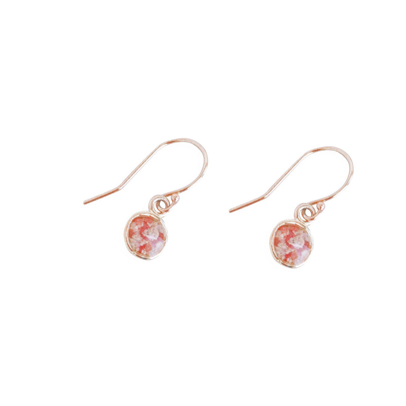 Splash ~ Circle (Small) Dangle Earrings in Gold - Alexandra Mosher Studio Jewellery Bermuda Fine