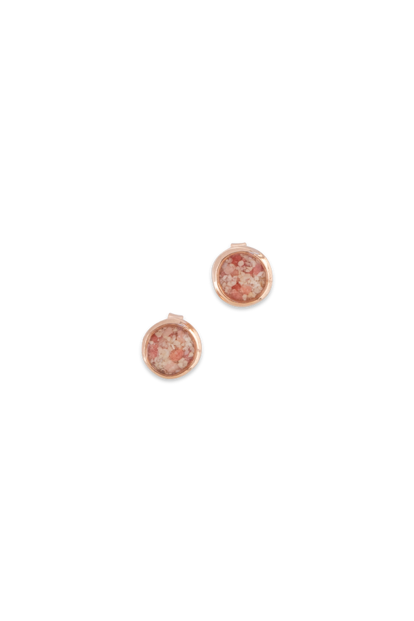 Splash ~ Circle (Small) Stud Earrings in Gold - Alexandra Mosher Studio Jewellery Bermuda Fine