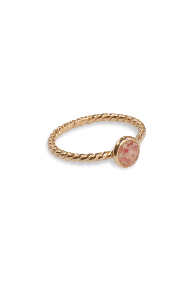 Splash ~ Circle (Small) Braided Band Ring in Gold - Alexandra Mosher Studio Jewellery Bermuda Fine