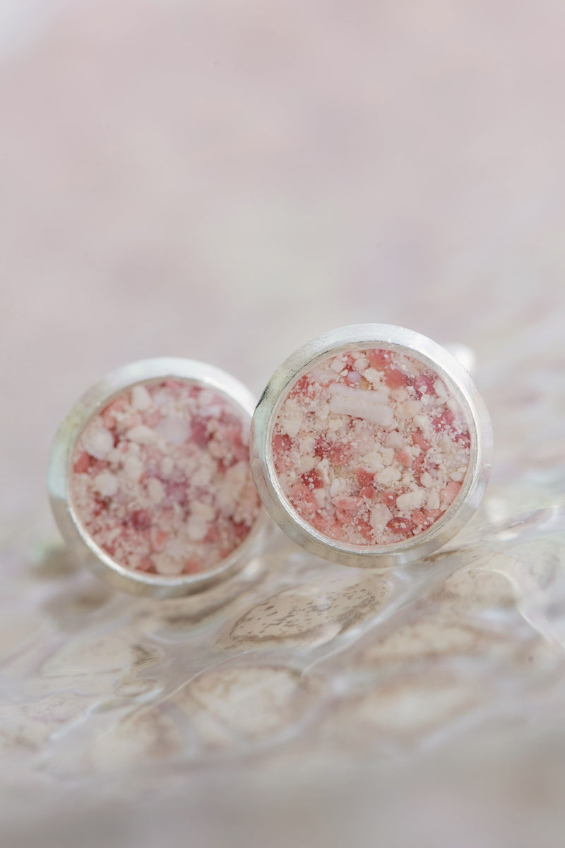 Men's Splash ~ Medium Cufflinks - Alexandra Mosher Studio Jewellery Bermuda Fine
