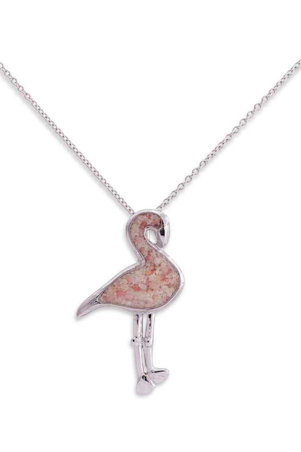 Friends ~ Flamingo Pendant in Gold - Alexandra Mosher Studio Jewellery Bermuda Fine