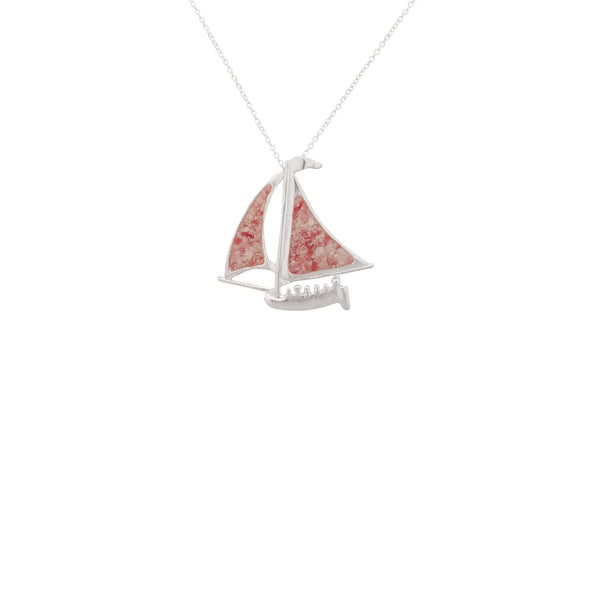 Nautical ~ Bermuda Fitted Dinghy (Medium) Pendant - Alexandra Mosher Studio Jewellery Bermuda Fine