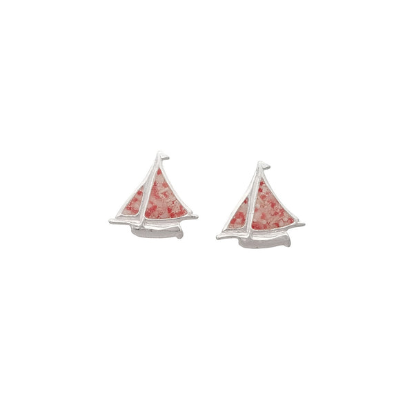 Nautical ~ Small Bermuda Fitted Dinghy Stud Earrings