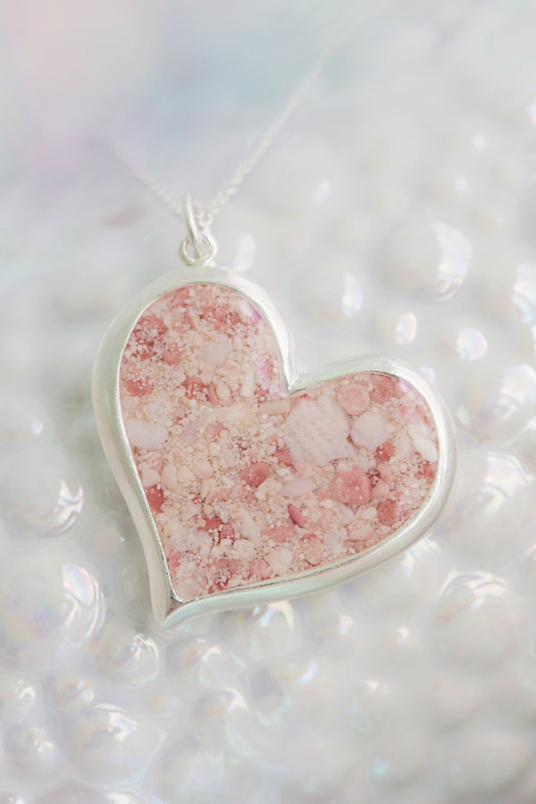 Splash ~ Circe Heart Pendant - Alexandra Mosher Studio Jewellery Bermuda Fine