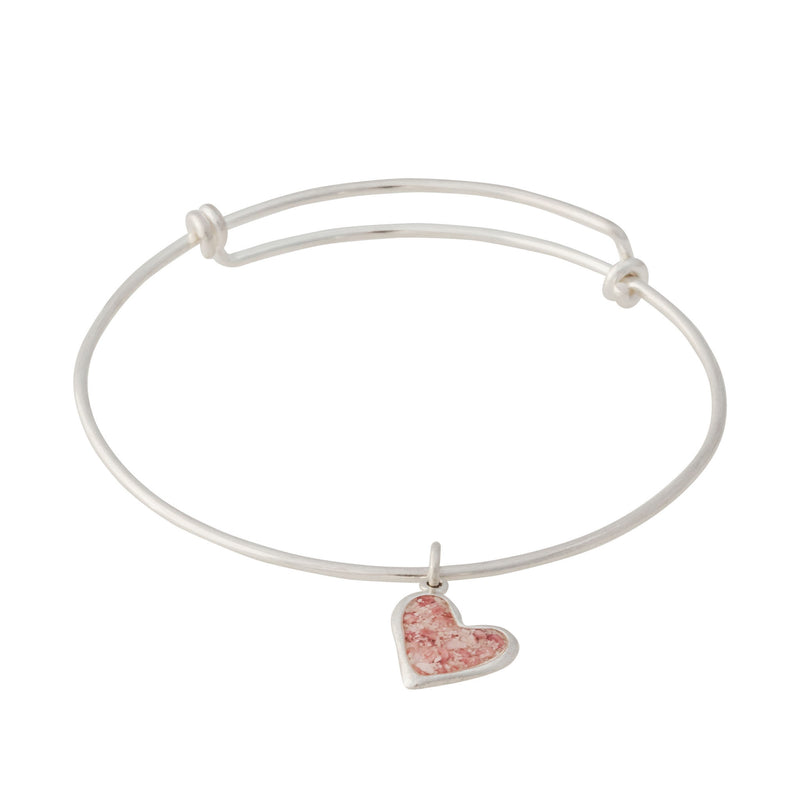 Splash ~ Heart (Juliet) Bangle - Alexandra Mosher Studio Jewellery Bermuda Fine