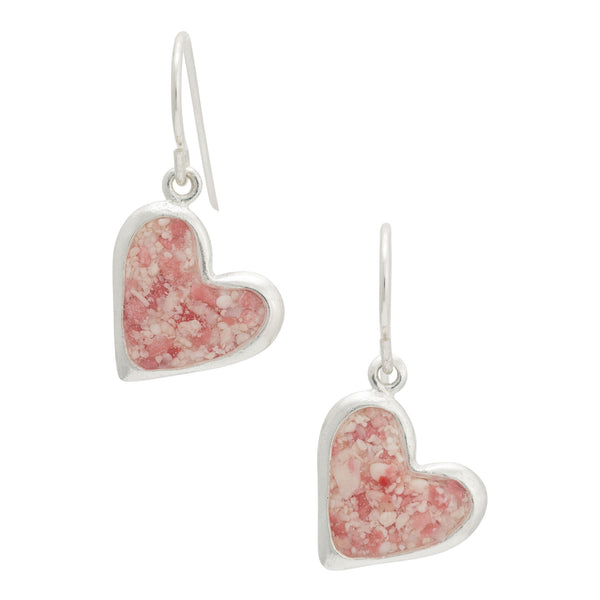 Splash ~ Juliet Heart Dangle Earrings - Alexandra Mosher Studio Jewellery Bermuda Fine