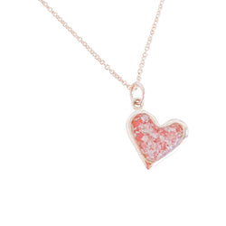 Splash ~ Heart (Juliet) Pendant in Gold - Alexandra Mosher Studio Jewellery Bermuda Fine