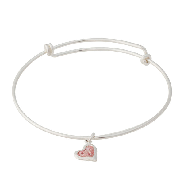 Splash ~ Large Heart Bangle