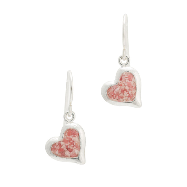 Splash ~ Large Heart Dangle Earrings - ARCHIVED - Alexandra Mosher Studio Jewellery Bermuda Fine