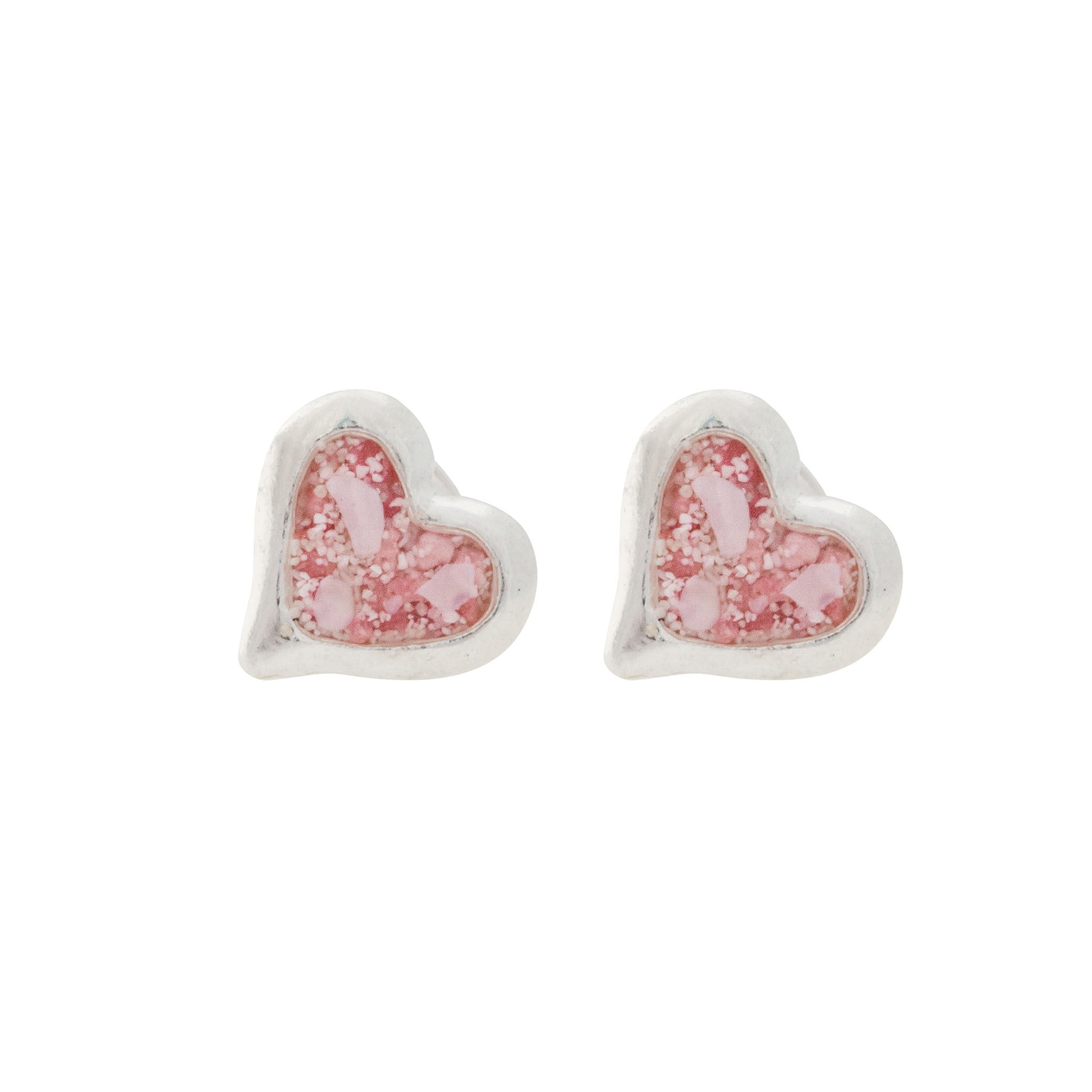 fiorelli silver earrings image from stud heart ribbon