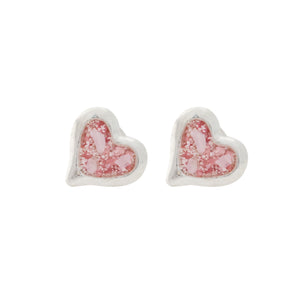 Splash Collection - Large Heart Stud Earrings