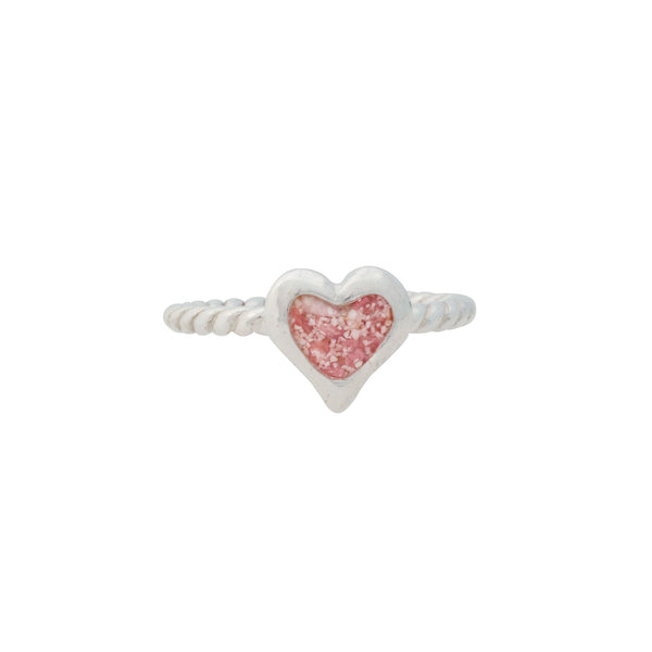Splash ~ Small Heart Ring with Braided Band - Alexandra Mosher Studio Jewellery Bermuda Fine