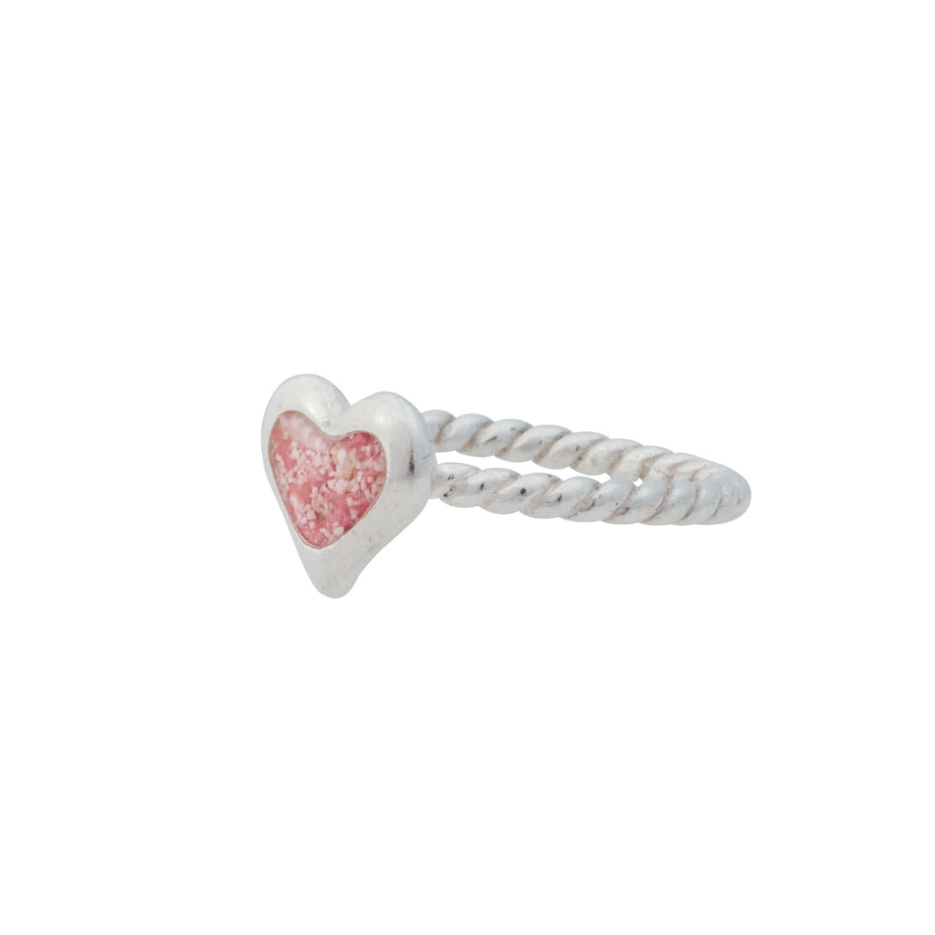 Splash Collection - Petites | Small Heart Ring with Braided Band