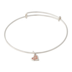 Splash ~ Heart (Small) Bangle - Alexandra Mosher Studio Jewellery Bermuda Fine