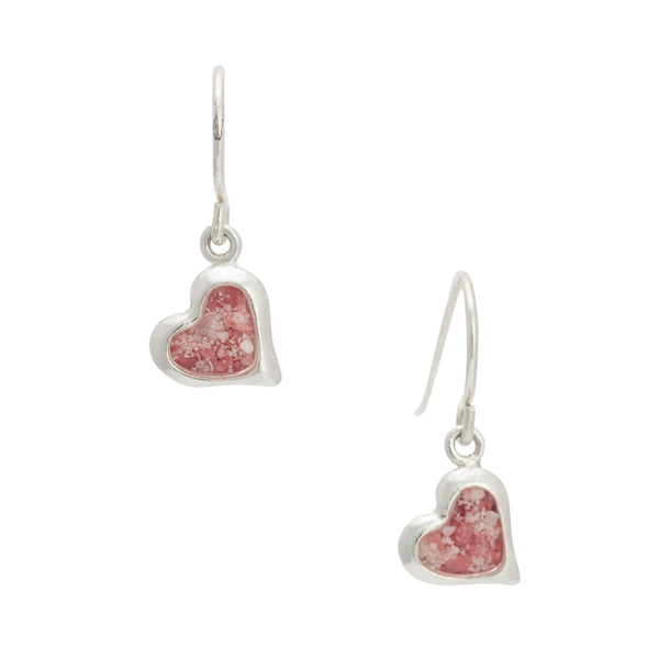 Splash ~ Small Heart Dangle Earrings