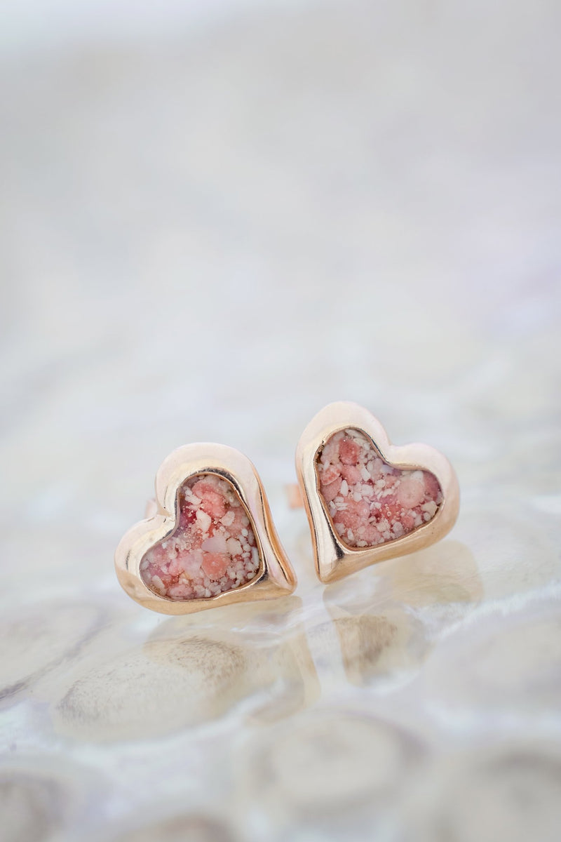 Splash ~ Heart Small Studs 14K Gold