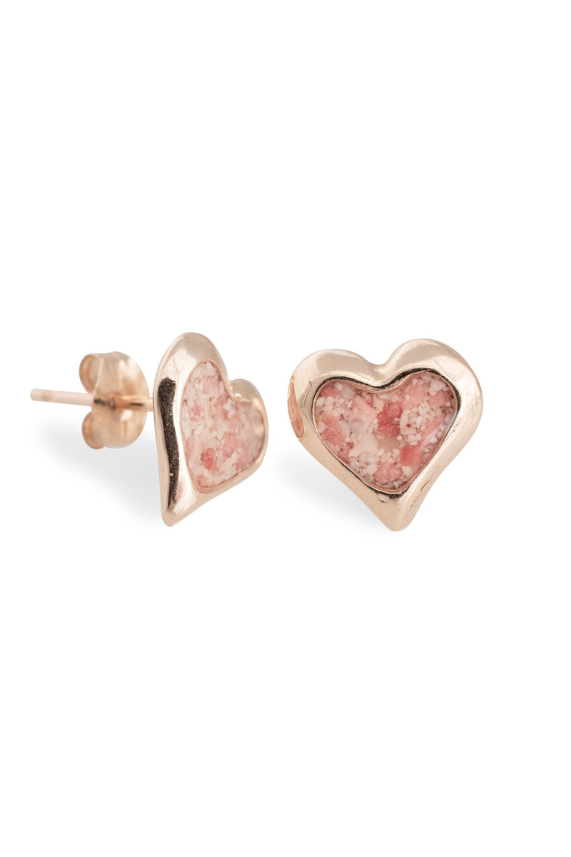 Splash ~ Heart (Small) Stud Earrings in Gold - Alexandra Mosher Studio Jewellery Bermuda Fine
