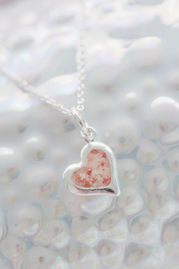 Splash ~ Small Heart Pendant - Alexandra Mosher Studio Jewellery Bermuda Fine