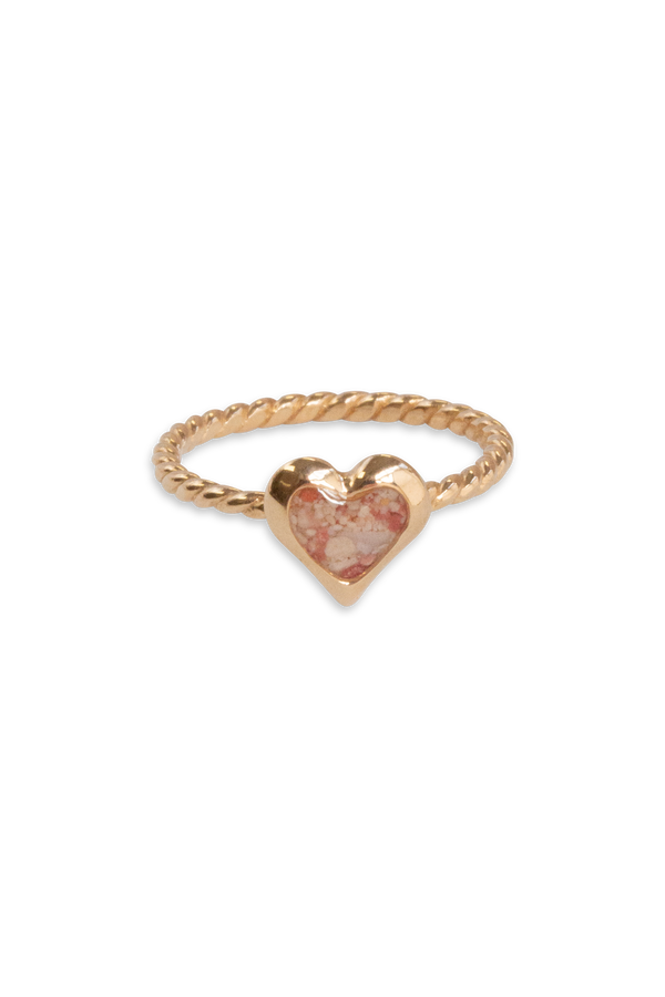 Splash ~ Heart (Small) Braided Band Ring in Gold - Alexandra Mosher Studio Jewellery Bermuda Fine