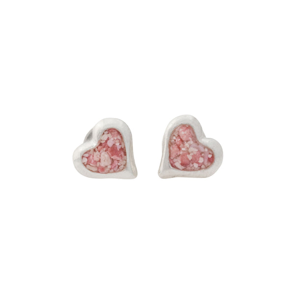 Splash ~ Small Heart Stud Earrings