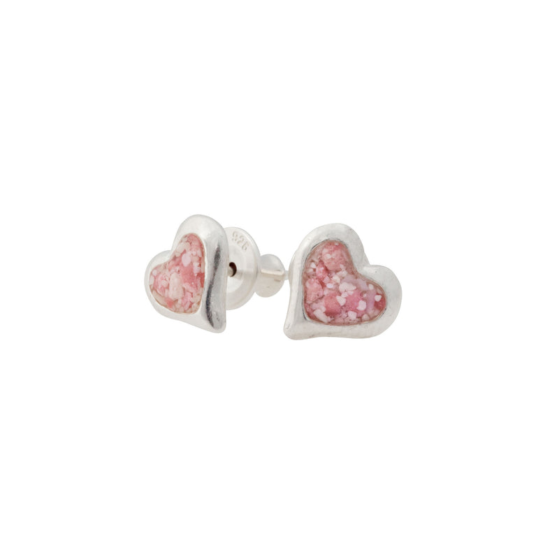 Splash ~ Heart (Small) Stud Earrings - Alexandra Mosher Studio Jewellery Bermuda Fine
