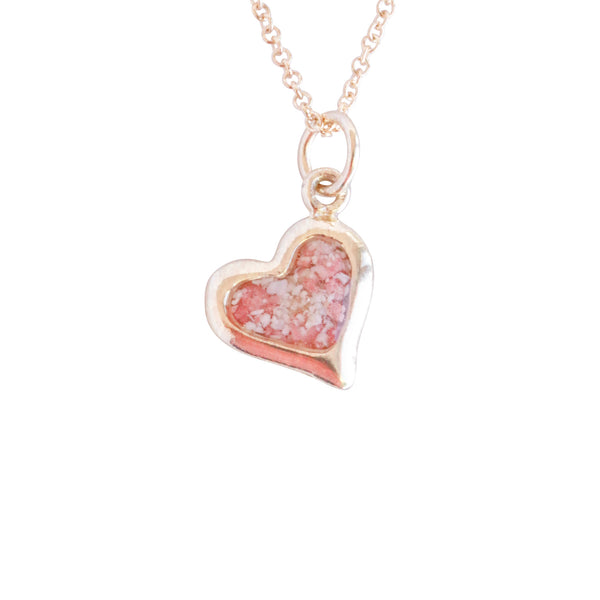 Splash ~ Large Heart 14K Gold Pendant