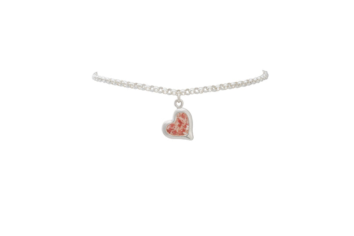 Splash Collection - Large Heart Anklet