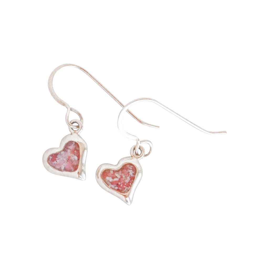 Splash Collection | Small Heart 14K Gold Dangle Earrings