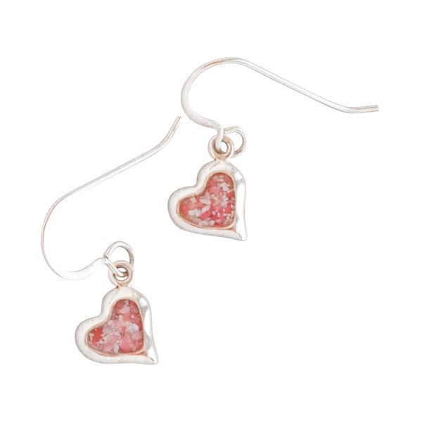 Splash ~ Small Heart 14K Gold Dangle Earrings