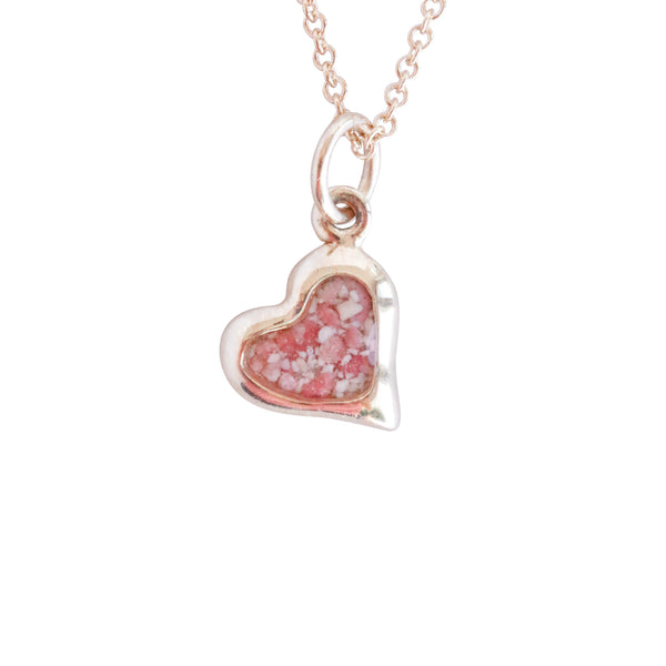 Splash ~ Small Heart 14K Gold Pendant
