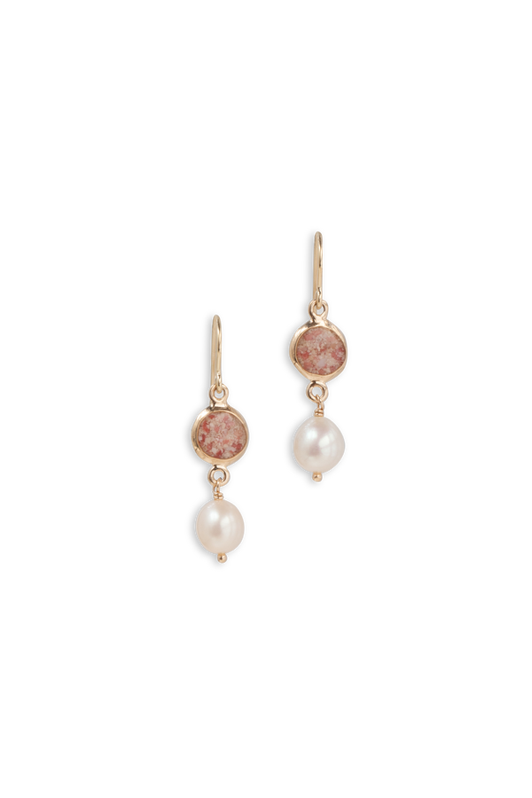 Princess ~ Isabella 14K Medium Earrings - Alexandra Mosher Studio Jewellery Bermuda Fine
