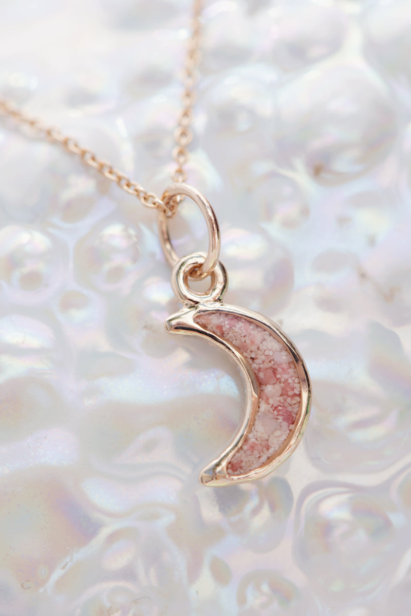 Icons ~ Moon (Small) Pendant in Gold - Alexandra Mosher Studio Jewellery Bermuda Fine