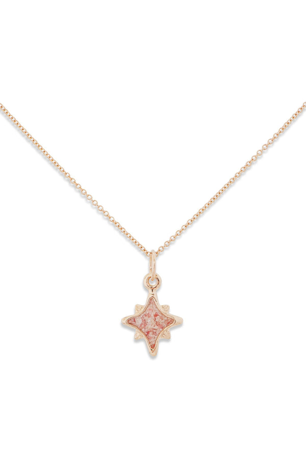 Icons ~ Small North Star 14K Gold Pendant - Alexandra Mosher Studio Jewellery Bermuda Fine