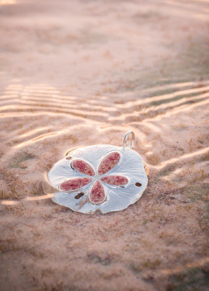 Friends ~ Sand Dollar 2013 Ornament / Pendant - Alexandra Mosher Studio Jewellery Bermuda Fine