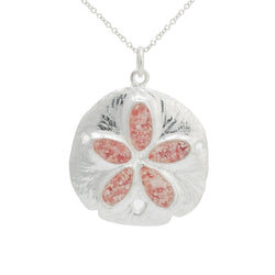 Friends ~ Large Sand Dollar Pendant - Alexandra Mosher Studio Jewellery Bermuda Fine