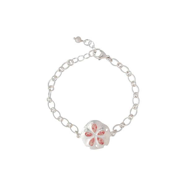 Friends ~ Sand Dollar (Medium) Inline Bracelet - Alexandra Mosher Studio Jewellery Bermuda Fine