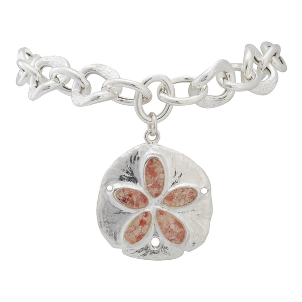 Friends ~ Large Sand Dollar Chunky Chain Bracelet