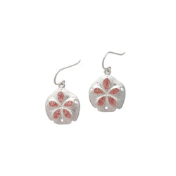 Friends ~ Medium Sand Dollar Dangle Earrings - Alexandra Mosher Studio Jewellery Bermuda Fine