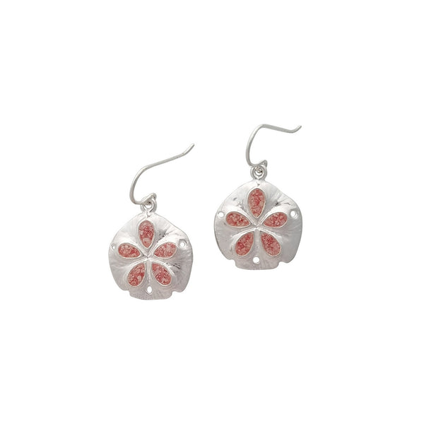 Friends ~ Sand Dollar (Medium) Dangle Earrings - Alexandra Mosher Studio Jewellery Bermuda Fine