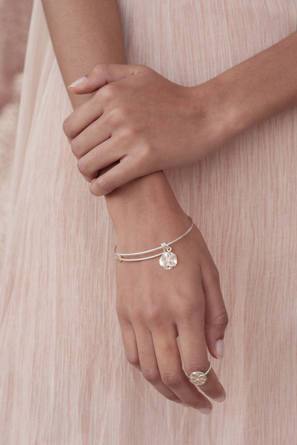 Friends ~ Small Sand Dollar Bangle - Alexandra Mosher Studio Jewellery Bermuda Fine