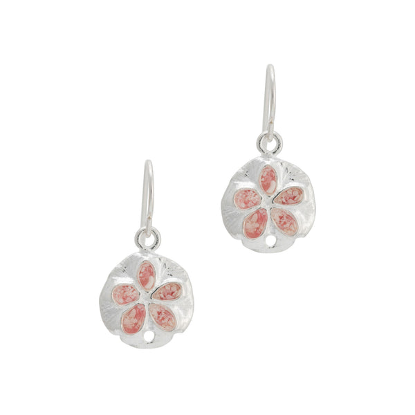Friends ~ Small Sand Dollar Dangle Earrings - Alexandra Mosher Studio Jewellery Bermuda Fine