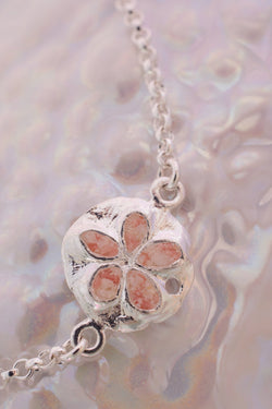 Friends ~ Small Sand Dollar Inline Bracelet - Alexandra Mosher Studio Jewellery Bermuda Fine