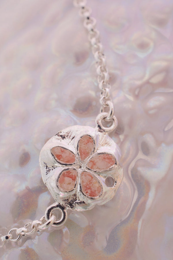 Friends ~ Sand Dollar (Small) Inline Bracelet - Alexandra Mosher Studio Jewellery Bermuda Fine