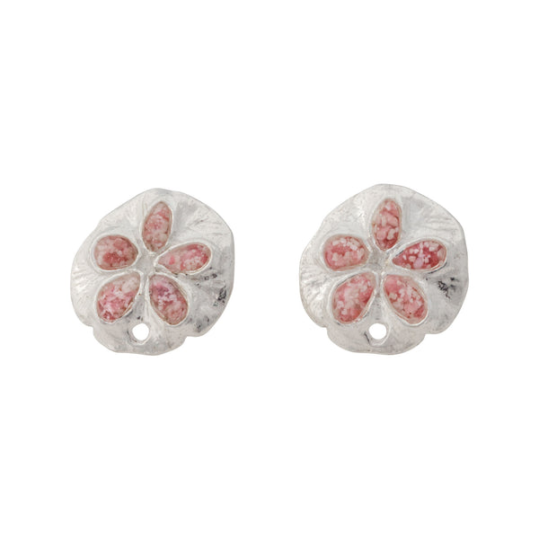 Friends ~ Sand Dollar (Small) Stud Earrings - Alexandra Mosher Studio Jewellery Bermuda Fine